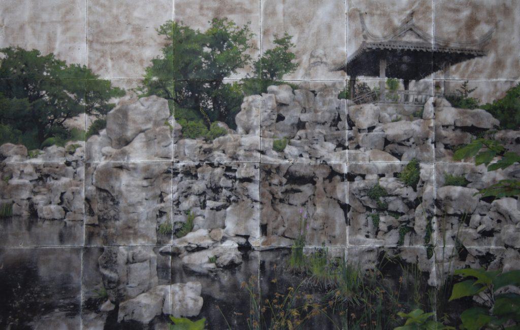 A Breath of Eternity - Stampa fotografica a cera su tela dipinta ad olio 68X 105 cm 2011 (1)